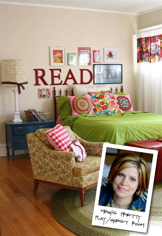 LOVE this gal's blog!  FULL of style and design and COLOR!  And, such a cute little girl's bedroom re-do.