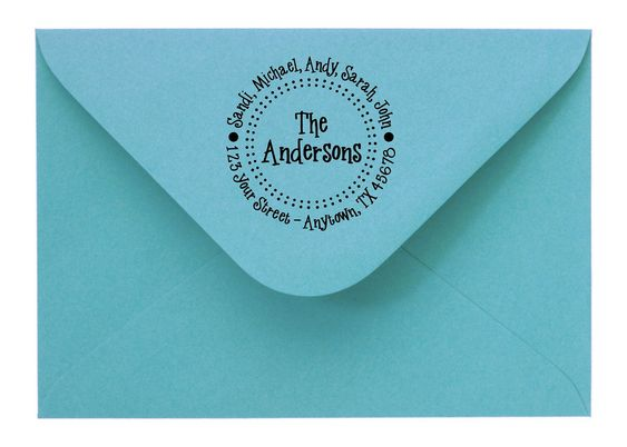 Personalized Custom Made Return Address Rubber Stamps  $7.50, via Etsy.