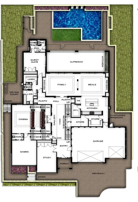Two Storey Split Level House Plans Perth View Plans Of