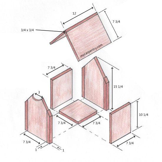 Free Easy Bird House Plan Screech Owl Bird House Garden