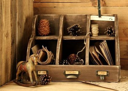 Бюро New York (Резерв) - коричневый,бюро,Бюро для бумаг,настольное,для хранения