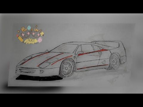Art Draw And Paint Speed Drawing A Ferrari F40 Simple And Easy