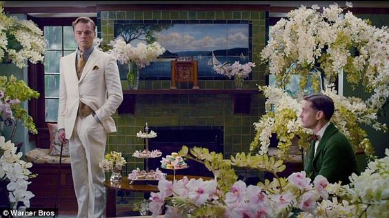 Tiled fireplace - The Great Gatsby