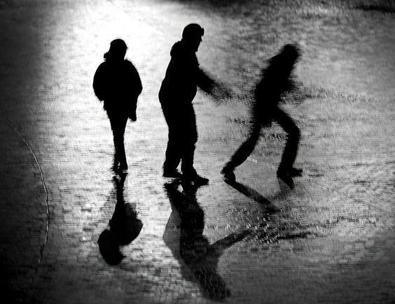#StreetPhotography @CityParkBD #Bradford #Yorkshire: The secret story of silhouettes and shadows...