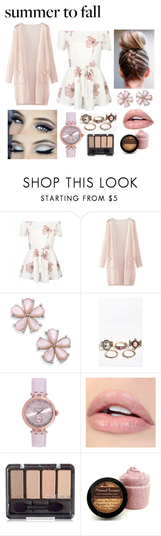 """Pink 💗💗"" by shelbs1234 ❤ liked on Polyvore featuring WithChic and Ted Baker"