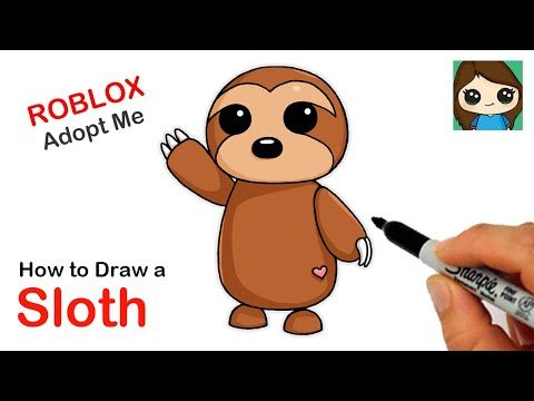 How To Draw A Sloth Roblox Adopt Me Pet Youtube Pets Drawing Pet Adoption Party Cute Drawings