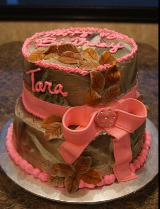 Pink Camo Cake first birthday Pinterest Pink Haha and Cakes