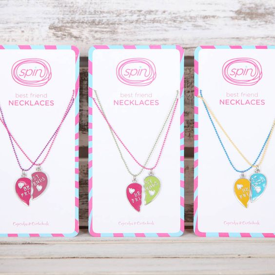 girls bright best friend necklaces by red berry apple | notonthehighstreet.com