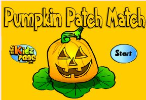 Free online pumpkin memory game.  welcome to k1.6: Educational Games