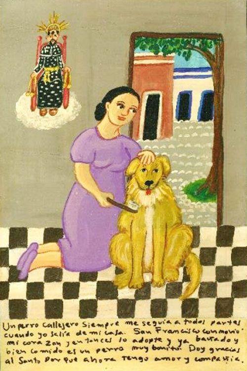 Один бездомный пес вечно увязывался за мной, куда бы я ни пошла. Святой Франциск разжалобил меня, и я взяла пса домой, вымыла и откормила его. Теперь он славный и ухоженный. Благодарю святого, так как пес дарит мне свою любовь и составляет компанию.