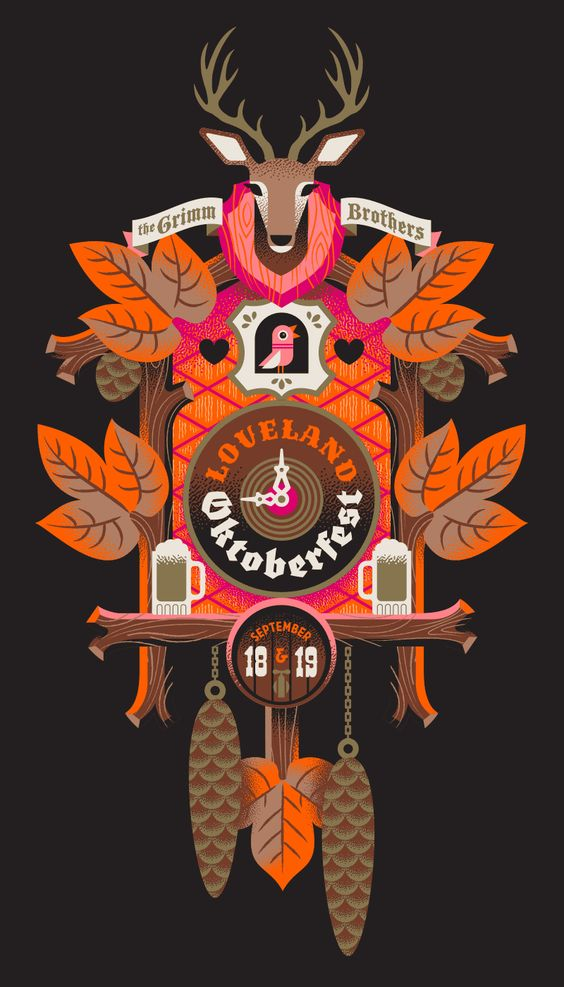Colors clock and design illustrations on pinterest for Loveland tattoo shops