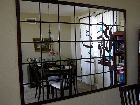 Diy mirrored wall using ikea lots mirrors home for Decoller un miroir du mur