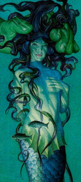 mermaid captured, Charles Santore