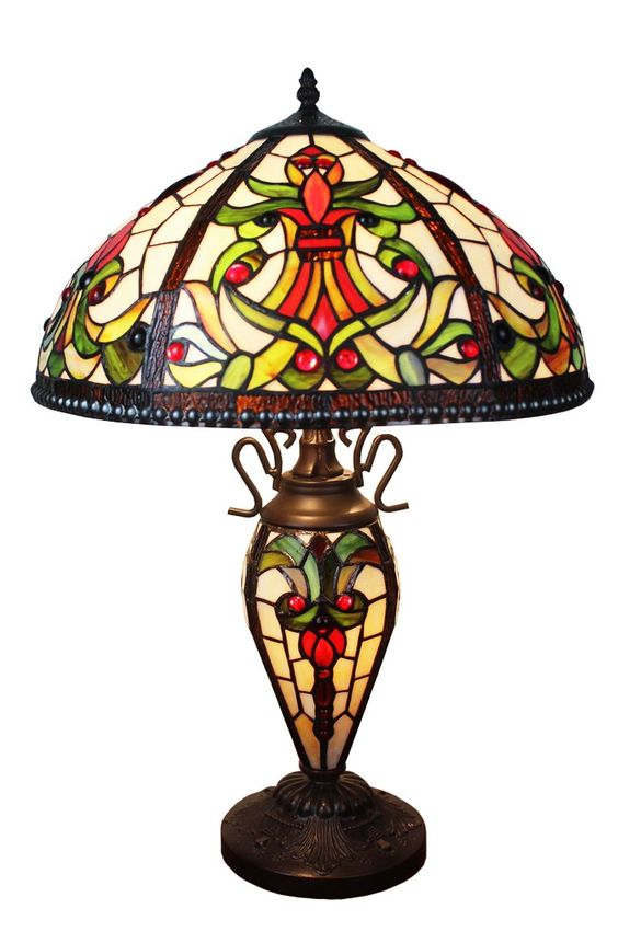 ステンドグラス ランプ アンティーク ティファニー 高価 イメージ