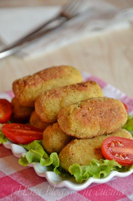 Crocchette di pollo e zucchine al forno