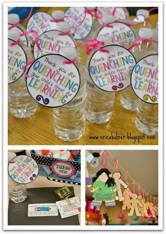 math worksheet : first grade meet the teacher night free parent gift tag for water  : Presents For First Grade Teachers