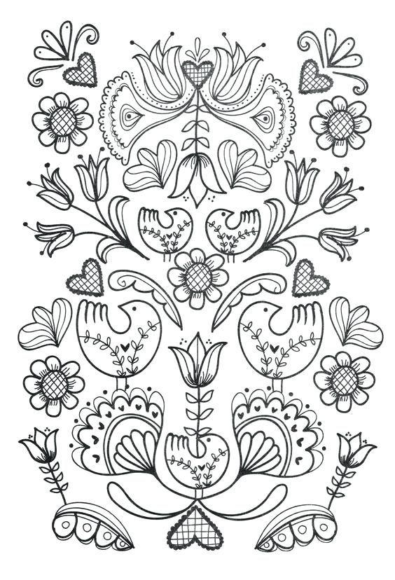 Scandinavian Folk Art Coloring Book Folk Embroidery Scandinavian Folk Art Scandinavian Embroidery