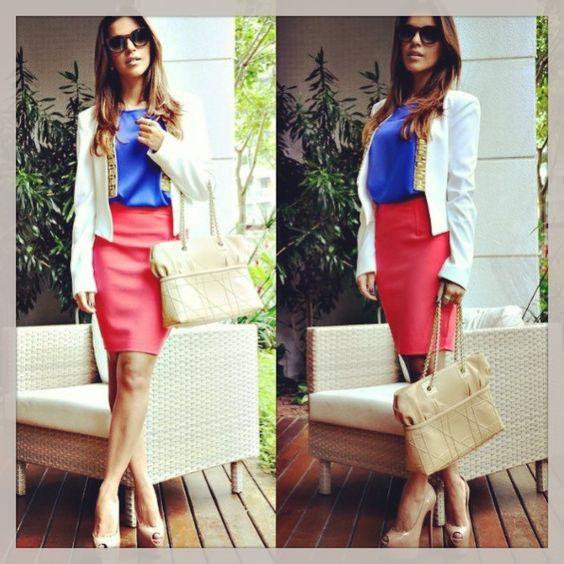 Trevita Street Style.: saia lápis!!! Inspirem-se treviteiras no look da Mariana…