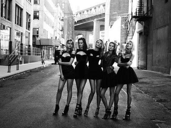 girls in dumbo in perfect black dresses