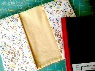 Stitch by Stitch: Fabric Book Cover Tutorial (a new-to-me technique)
