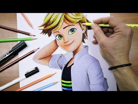 رسم ادرين من الدعسوقة والقط الاسود ميراكولوس Drawing Adrien Miraculous Ladybug Youtube Character Zelda Characters Youtube