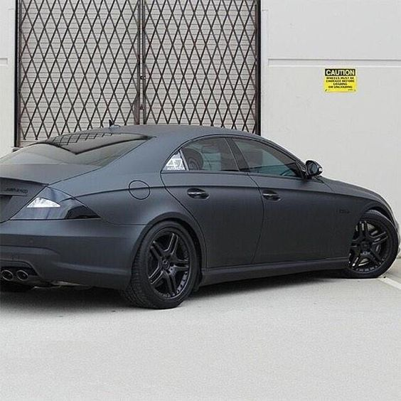 Blacked out mercedes CLS