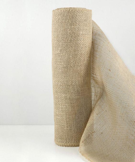 Natural Burlap Jute Fabric Roll   zulily