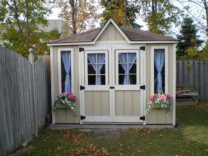 shed idea paint in 1 or 2 soft colours add trim window. Black Bedroom Furniture Sets. Home Design Ideas