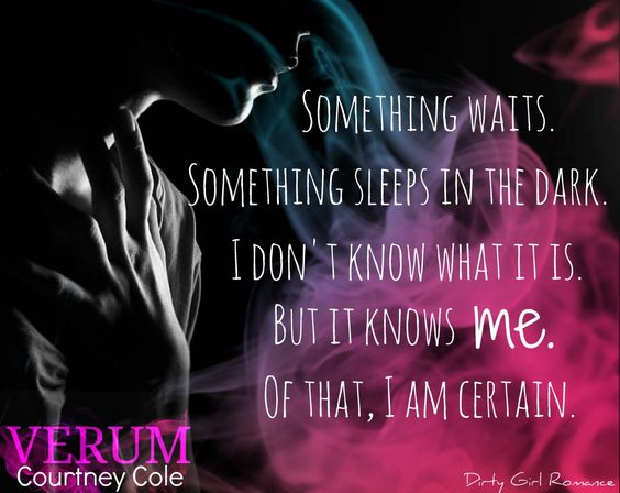 Verum (The Nocte Trilogy, bk 2)  by Courtney Cole  #DirtyGirlRomance