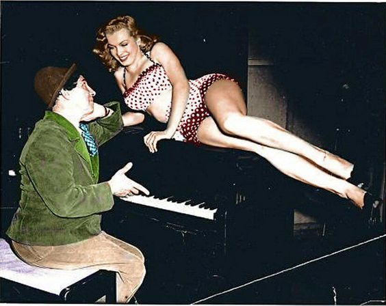 Marilyn Monroe and Chico Marx