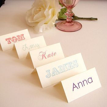 Buy Personalised name place cards   jubilee-gifts