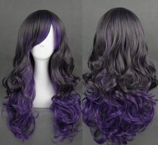 65 centímetros frete grátis http://pt.aliexpress.com/item/Free-Shipping-65cm-Color-Mixed-Curl-Party-Synthetic-Beautiful-Lolita-wig/1733803279.html