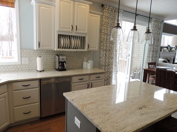 It Is Less Expensive Than Marble And Is More Durable As Well. River White  Granite Is A Great Choice To Place Into Any Room.