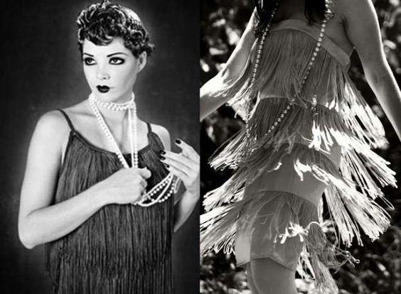 Vuelve a la moda el estilo años 20: fotos de los looks - Festido con flecos…