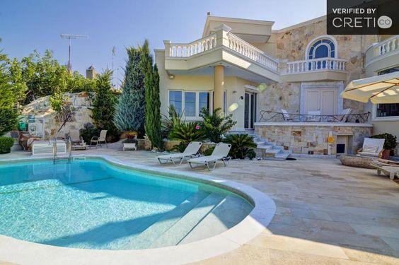 Luxury villa with neoclassical architecture