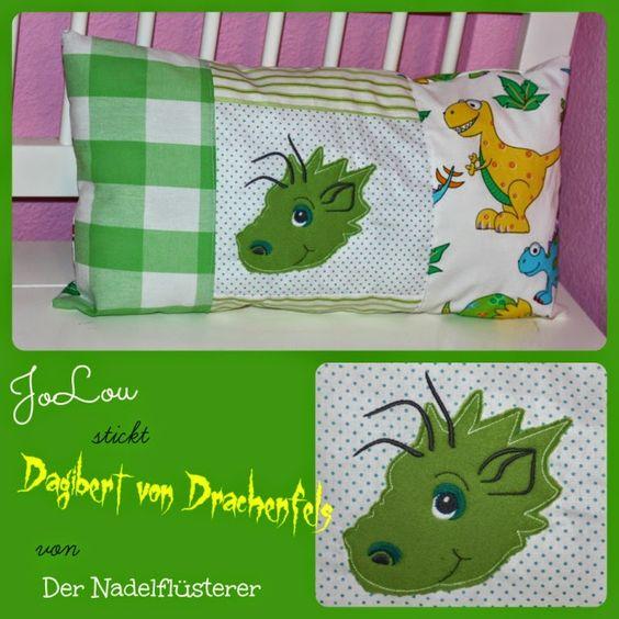JoLou: Kennt Ihr schon Dagibert von Drachenfels? #Kissen #Drachen