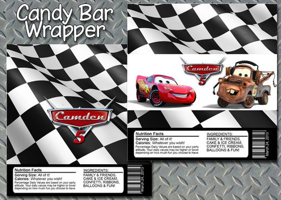 Disney Cars Candy Bar Wrapper {HAVE}