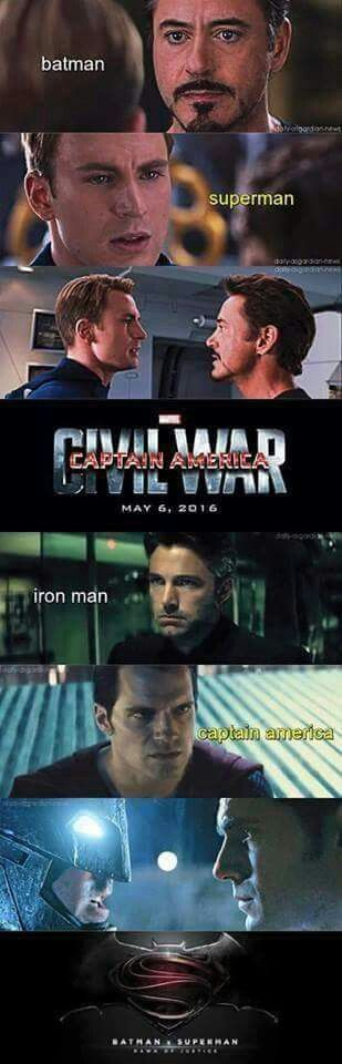 This is what happens when DC and Marvel release two big films circulating around rivalries...