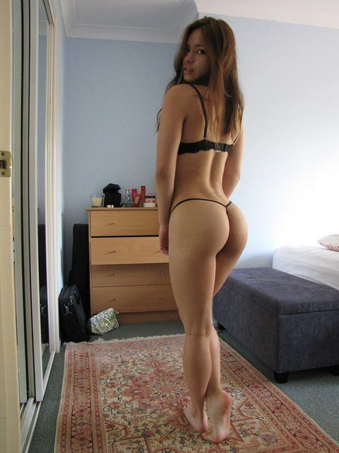Teen Brunette Tight Ass Lingerie 33