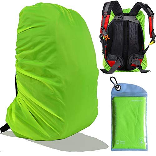 Gryps Waterproof Backpack Rain Cover With Adjustable Anti Slip Buckle Strap Pu Coating Reinforced Inner Layer For Camping Hiking Traveling Hunting Biking Waterproof Backpack Backpack Cover Hunting Backpacks
