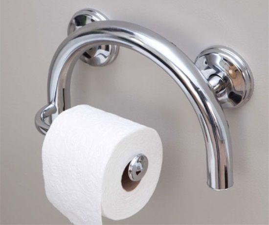 Toilet Roll Holder is a Grab Bar  Make sure to anchor mount it for your  weight   AginingInPlace   AccessibleToilet    Good Ideas   Pinterest    Toilet roll. Toilet Roll Holder is a Grab Bar  Make sure to anchor mount it for