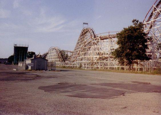 Comet Roller Coaster at Lincoln Park - Dartmouth, MA circa ...