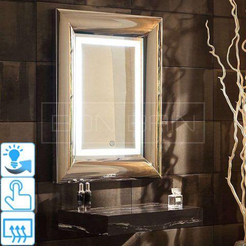 Miroir Salle D Eau Avec Eclairage Rond Touche Sensif Miroir Lumineux