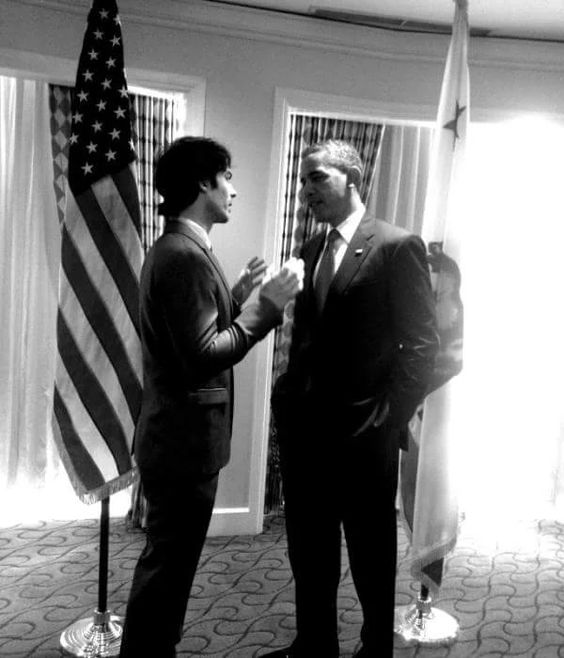 Ian said he had so much to tell Obama he didn't get nervous until after.