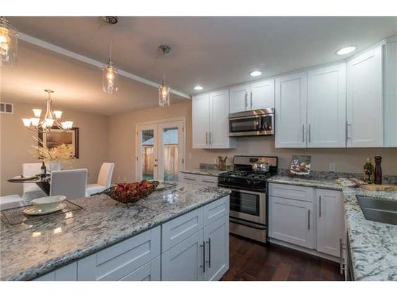 Rocky White Granite : White gray black granite with counter tops