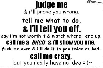 Only when you really piss me off though... haha