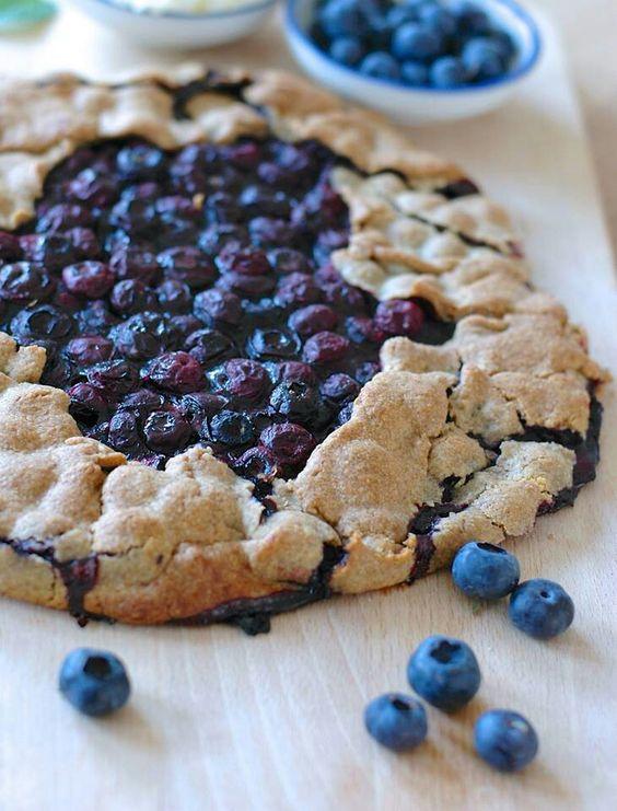 Blueberry Galette, native american dessert
