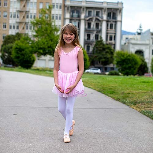 STELLE Girls Sweetheart Neckline Tank Top Tutu Dress Leotard for Dance//Gymnastics//Ballet Toddler//Little Girls//Big Girls