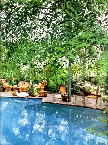 poolside furnishings that aren 39 t gross p a t i o pinterest pools and tropical. Black Bedroom Furniture Sets. Home Design Ideas