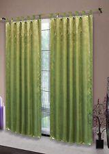 Blickdichter Vorhang Emboss Relief Barock, Schlaufen, 245x135, Apfelgrün